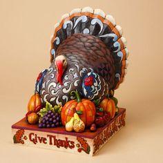 Jim Shore Give Thanks Turkey Figurine. #JimShore #Statue #Sculpture #Decor #Gift #gosstudio .★ We recommend Gift Shop: http://www.zazzle.com/vintagestylestudio ★