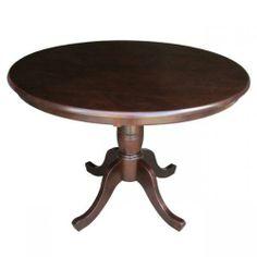 """36"""" Round Pedestal Dining Table (Rich Mocha) (30""""H x 36""""W x 36""""D) by International Concepts, http://www.amazon.com/dp/B00A07YQTY/ref=cm_sw_r_pi_dp_fHKZrb1BD58DH"""