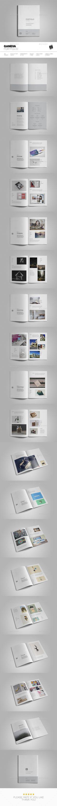 Geneva Portfolio Brochure Tempalte InDesign INDD - 38 Pages, A4 & Letter sizes