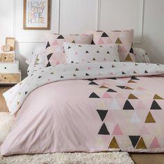 Parure de lit à motif triangle Linge de lit - Kiabi - 25,00€
