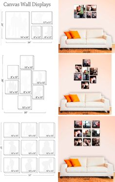 photo wall display - Home Decoz Picture Arrangements, Frame Arrangements, Display Homes, Inspiration Wall, Wall Canvas, Canvas Prints, Canvas Collage, Canvas Art, Canvas Size