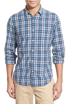 Faherty 'Seaview' Trim Fit Plaid Sport Shirt