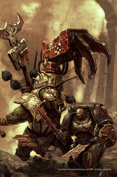 Ork Nob bout to krump an Imperial Fist Warhammer 40k Rpg, Orks 40k, Warhammer 40k Miniatures, Warhammer Fantasy, Fantasy Fiction, Fantasy Art, Imperial Fist, Space Wolves, Space Marine