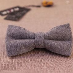 New Vintage Tweed Wool Grey Pre-tied bow tie. Matching Items Available. UK. | eBay