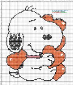 betty boop croos stitch patterns on pinterest | Dibujos Punto de Cruz Gratis: Snoopy - Punto de cruz
