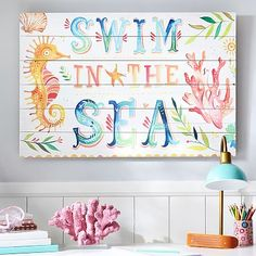 Swim In The Sea Watercolor Art #pbteen