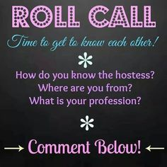 Younique virtual party roll call