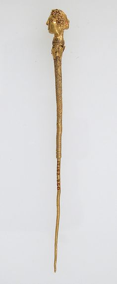 Gold Hairpin (late Roman). 3rd/4th C. AD, Made in Northern France.
