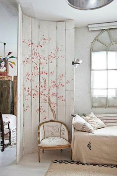 room divider- idea for the kids and makes a great room decoration when they get separate rooms