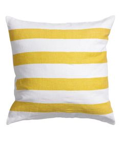 love love these linen stripe pillow covers from h&m