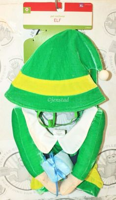 DOG ELF XL HAT & COLLAR SANTAS HELPER CHRISTMAS HOLIDAY PET COSTUME XLARGE NEW #Unbranded