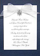 snowflake invitation