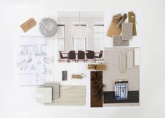 Mood Board Interior Design Project created during our one-day masterclass in Barcelona. 3d Interior Design, Design Art, Interior Decorating, Mood Board Interior, Material Board, Mood Boards, Presentation Boards, Place Card Holders, Create