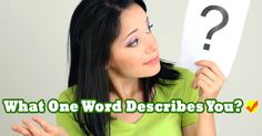 What One Word Describes You? | Quiz Social
