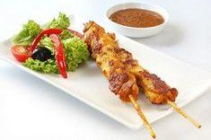 Hähnchen Kebab mit Erdnussdip