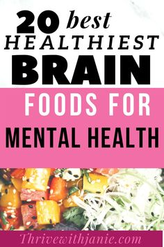We all should  eat  for  better mental health. Some foods are proved by research to better mental health, concentrated improve focus, anxiety, cogntive ability and even prevent  mental illnesses. Nutrition And Mental Health, Good Mental Health, Brain Healthy Foods, Brain Food, Foods For Depression, Good Healthy Recipes, Superfoods, Anxiety, Diet