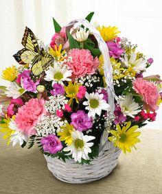Beautiful Garden Basket Bouquet