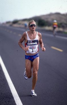 Scott Tinley lost 12 minutes to Scott in the first two legs of the ride. Defending his championship would have required a massive effort during the marathon. Photo: Lois Schwartz