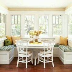 Banquette with windows