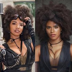 Domino (Deadpool) cosplay by uniquesora Deadpool Cosplay, Marvel Cosplay, Deadpool Movie, Anime Cosplay, Kida Atlantis, Amazing Cosplay, Best Cosplay, Dominoes Costume, Domino Marvel
