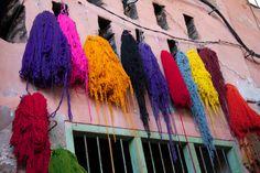 Recetas de mordantes para teñir lana con vegetales