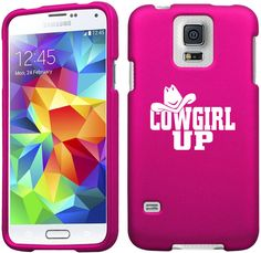 For Samsung Galaxy S3 S4 S5 Active Rubber Hard Case Cover Cowgirl Up with Hat
