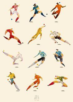 World Cup Player Illustrations - Rafael Mayani Draws Comic Book-Like World Cup Illustrations (GALLERY)