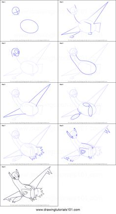 How to Draw Latios from Pokemon printable step by step drawing sheet : DrawingTu… How To Draw Latios Pokemon Printable Step by Step Drawing Sheet: … Latios Pokemon, Latios And Latias, Mega Pokemon, Draw Pokemon, Art Drawings For Kids, Love Drawings, Drawing For Kids, Easy Drawings, Easy Pokemon Drawings