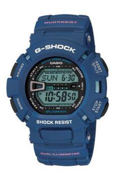 Casio Mens G9000MX-2CR G-Shock Mud Resistant Blue Digital Watch