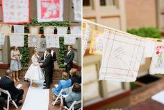 Vintage hankerchief bunting | The Natural Wedding Company