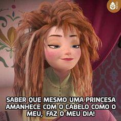 Bom dia Nerds!  #TimelineAcessivel #PraCegoVer  Imagem de Anna em Frozen com a legenda: Sabe que mesmo uma princesa amanhece com o cabelo como o meu faz o meu dia!  TAGS: #coxinhanerd #nerd #geek #geekstuff #geekart #nerd #nerdquote #geekquote #curiosidadesnerds #curiosidadesgeeks #coxinhanerd #coxinhafilmes #filmes #movies #cinema #euamocinema #adorocinema #cinéfilos #disney #elsa #anna #frozen #olaf #disney #bomdia