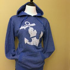 Anchored in Michigan Sparkle Hoody