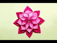 Unique Flower in origami style! 3 modifications of paper flower for room decoration. - YouTube