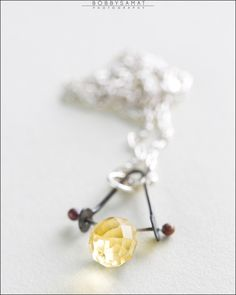 Sterling Silver Citrine Necklace - Jewelry by Jason Stroud.