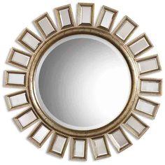 Uttermost Cyrus Round Silver Mirror 14076 B