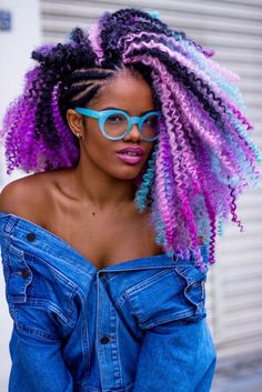 Technicolor Insta-Inspo - 31 Colorful Black Girl-Approved Hairstyles Giving Us Spring Fever Box Braids Hairstyles, Loose Hairstyles, Black Girls Hairstyles, Rainbow Hairstyles, Drawing Hairstyles, Hairstyles 2016, Big Chop, Hair Afro, Really Curly Hair