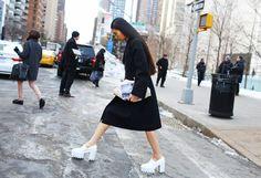 Alexander McQueen bag, Stella McCartney shoes