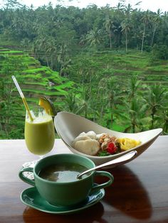 I'd love to spend a day learning about the rice terraces in Ubud, Bali. A spot of lunch overlooking the beautiful scenery would be amazing too.