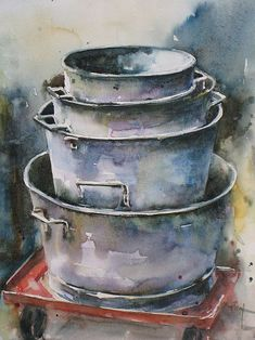 Image result for painting of metal bowl watercolor