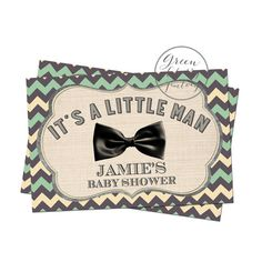 Baby Boy Shower Favor Tag   Chevron Bow Tie  by GreenCherryFactory, $6.00
