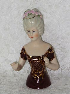 Crystal Porcelain Pincushion Half Doll | eBay