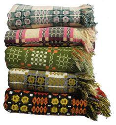 Jen Jones Welsh Quilts & Blankets - Fringed Tapestry Blankets