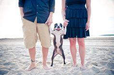Family photo with their Boston Terrier. Uh oh! I found our next family photo! Haha