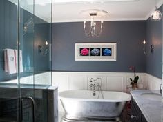 Transitional Bathrooms from Anissa Swanzy on HGTV. The bathroom with the cool tub.