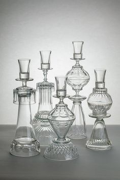 Crystal towers glued together for votives. victorian and darling! Good use of ll that unused crystal in our china cabinets! Home Crafts, Diy Home Decor, Diy And Crafts, Glass Garden Art, Glass Art, Clear Glass, Creation Deco, Idee Diy, Glass Flowers