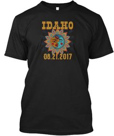 Total Solar Eclipse Idaho T Shirt Black T-Shirt Front