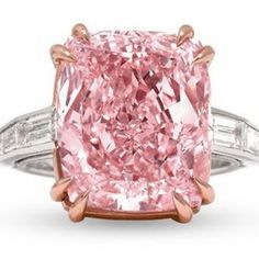 Tomorrow, one of the most exciting diamond auctions this summer will kick off on 1st Dibs. Fellow 1st dibs seller and our friends from the Naples Antique Show M.S. Rau Antiques are starting auction on a stunning 12.27 pink diamond tomorrow. The diamond, called the Majestic Pink diamond, is a GIA certified Type IIa diamond.