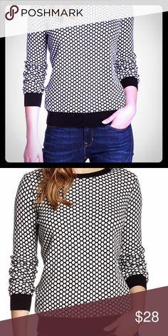 Nordstrom Kersh & Press Knit Sweater Polka dot knit. Black & cream. Worn twice Nordstrom Sweaters