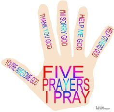 Prayer hand for preschoolers based on the adult guide of Praise, Thanksgiving, Confession, Petition, Intercession. Sunday School Crafts For Kids, Bible School Crafts, Bible Crafts For Kids, Sunday School Activities, Preschool Bible, Bible Study For Kids, Bible Lessons For Kids, Bible Activities, Kids Bible