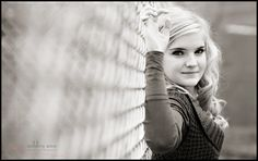 Chain link fence...want to try taking a photo of my kids like this!